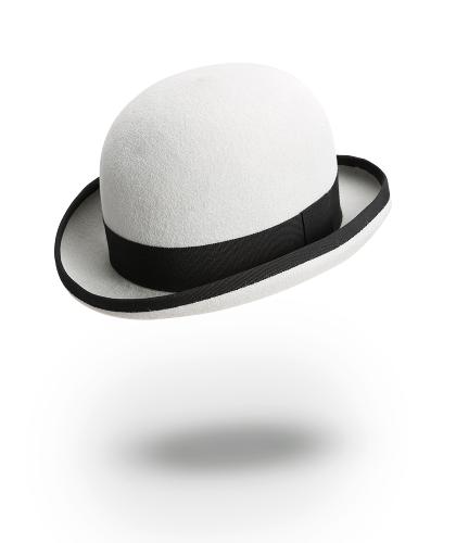 Chapeau Melon gris clair
