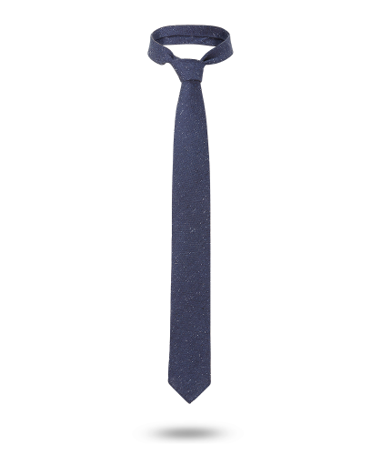 Cravate 7 plis Tissée bleu...