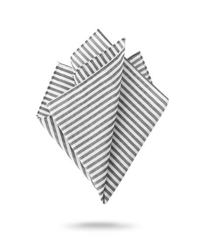Pochette blanche et grise